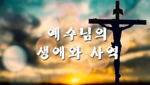 12월 1일 예수님의 생애와 사역 - 생명의 맥이 되라